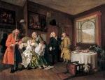 william hogarth  marriage a-la mode- 6. the lady's death