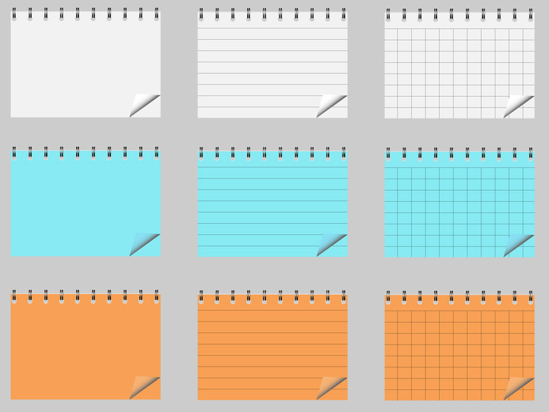 notepad_vector_pack